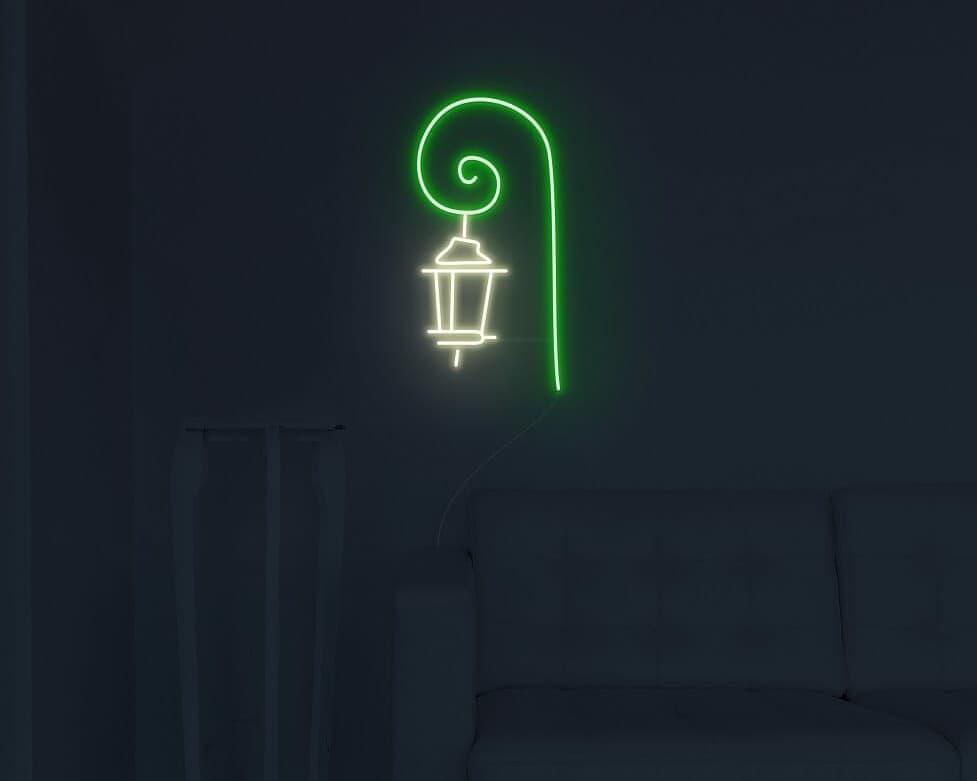 street lamp neon sign