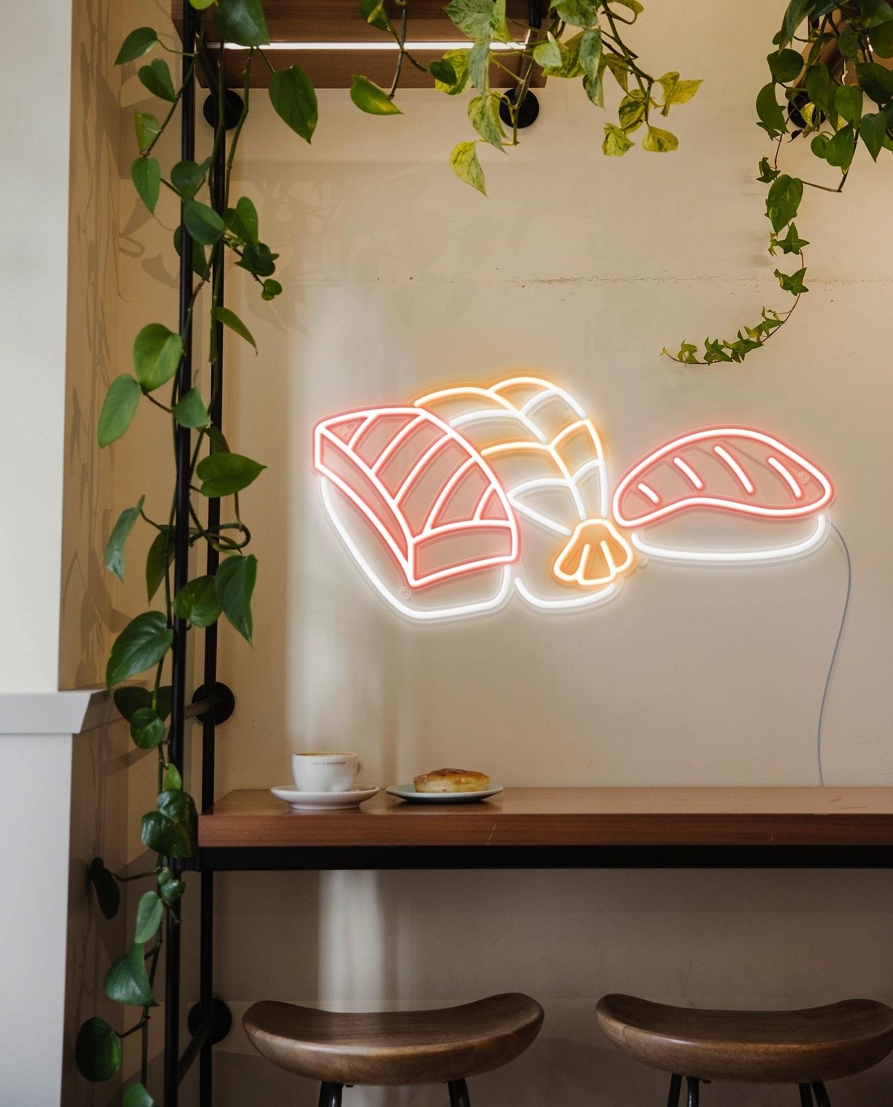 sushi neon light