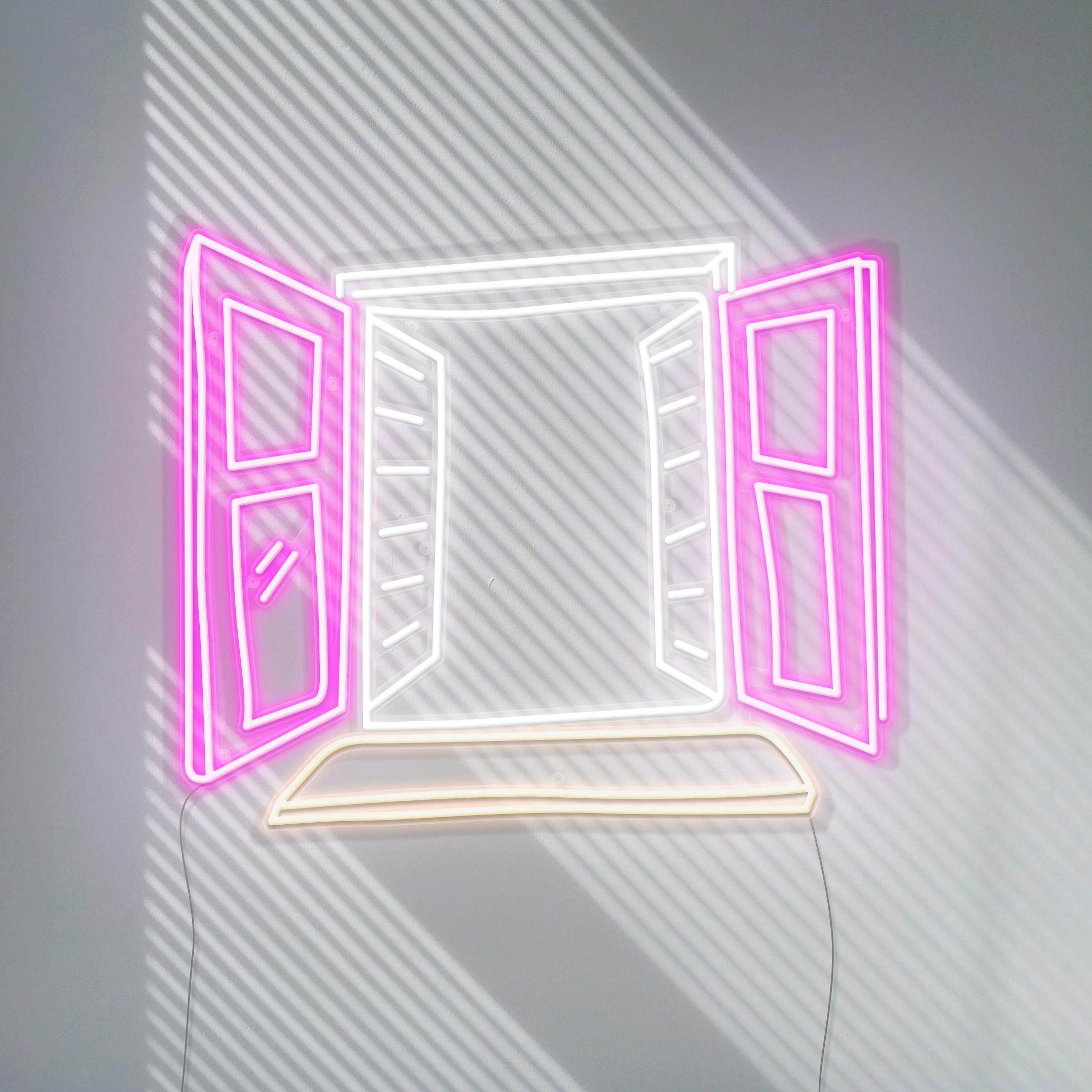 window view neon sign