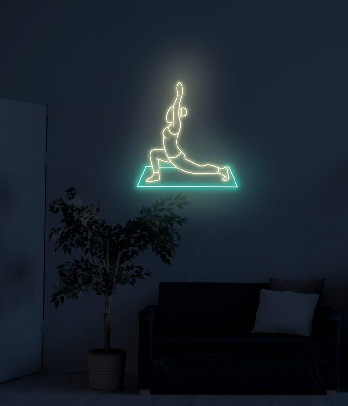 yoga neon sign