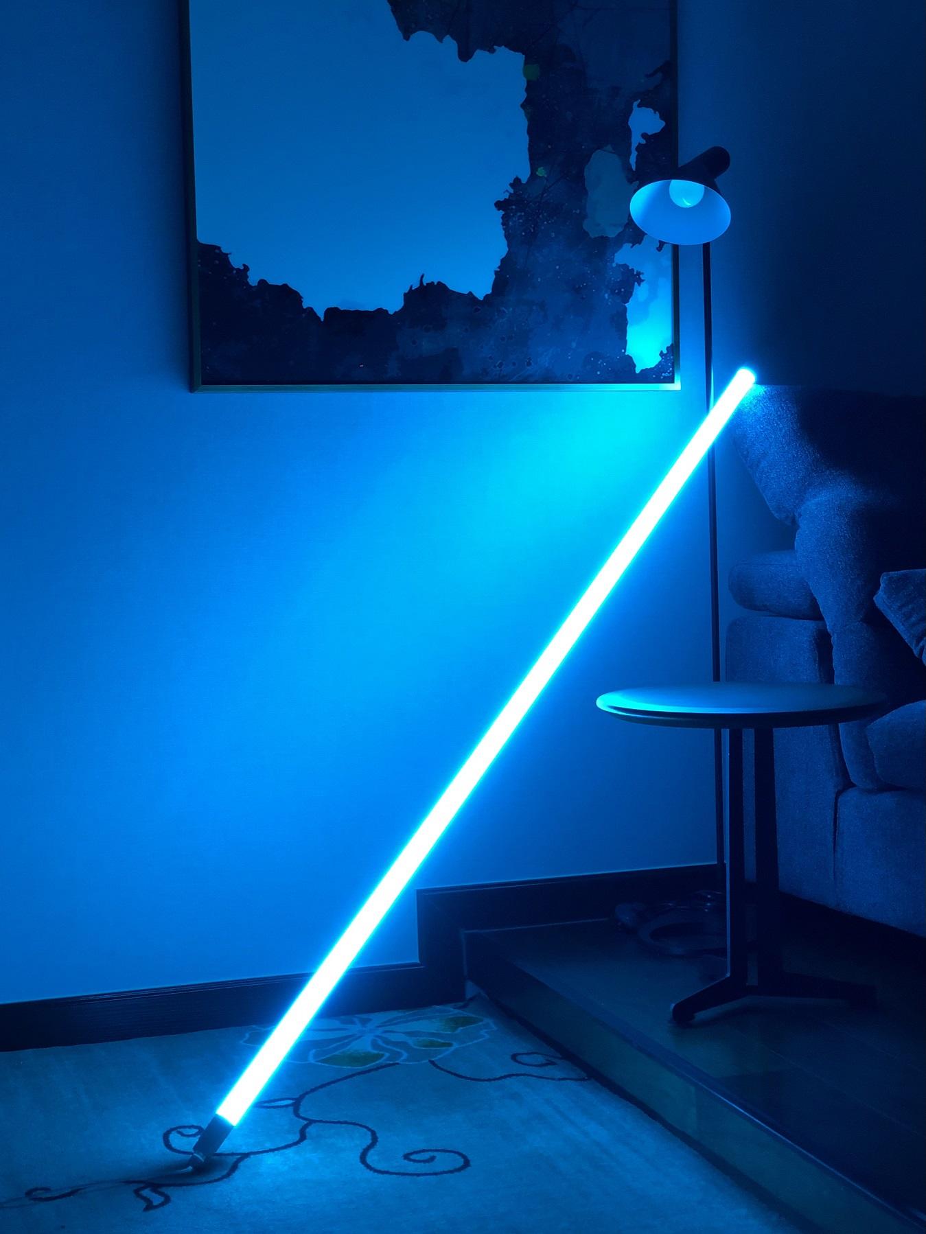 blue neon lamp