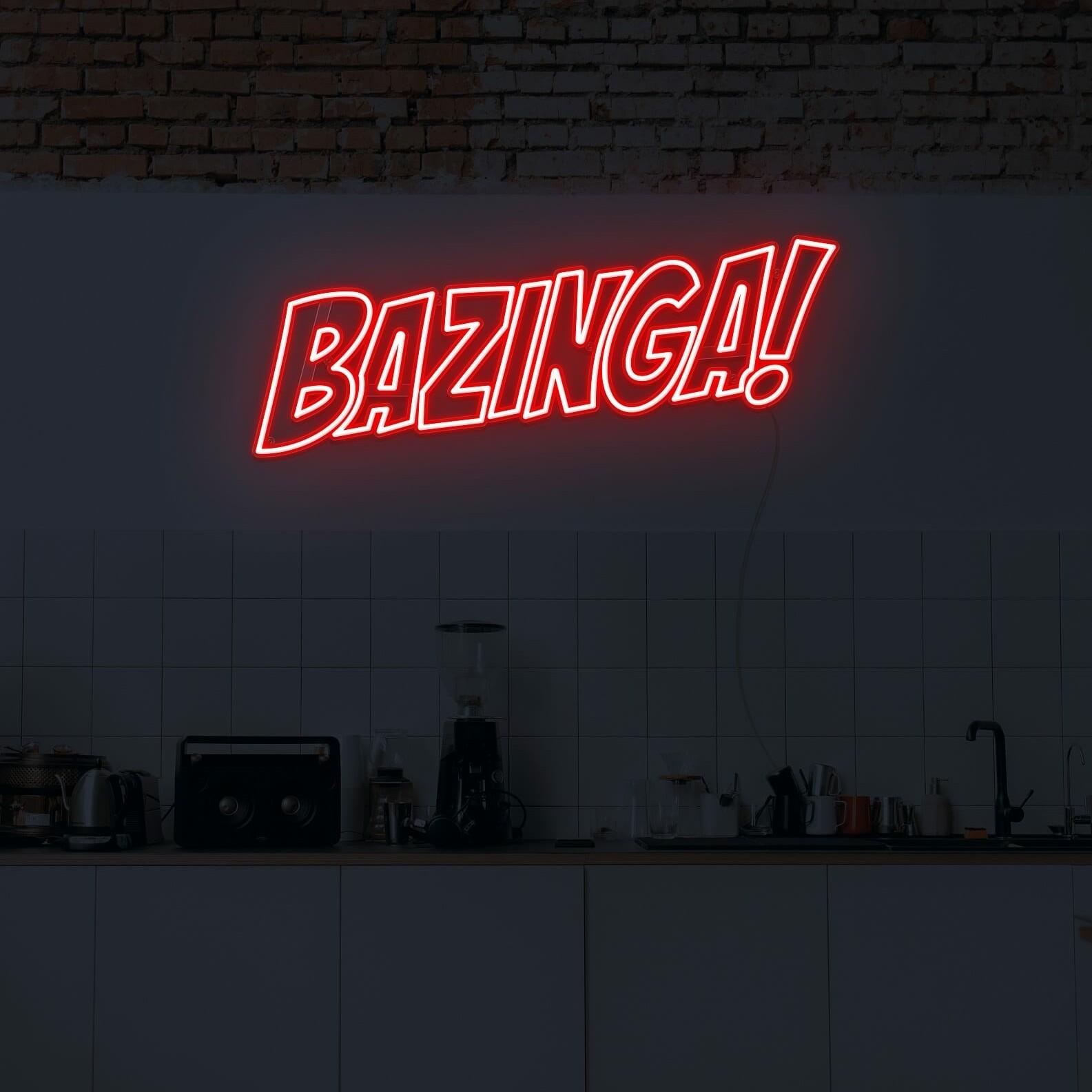 Bazinga neon light