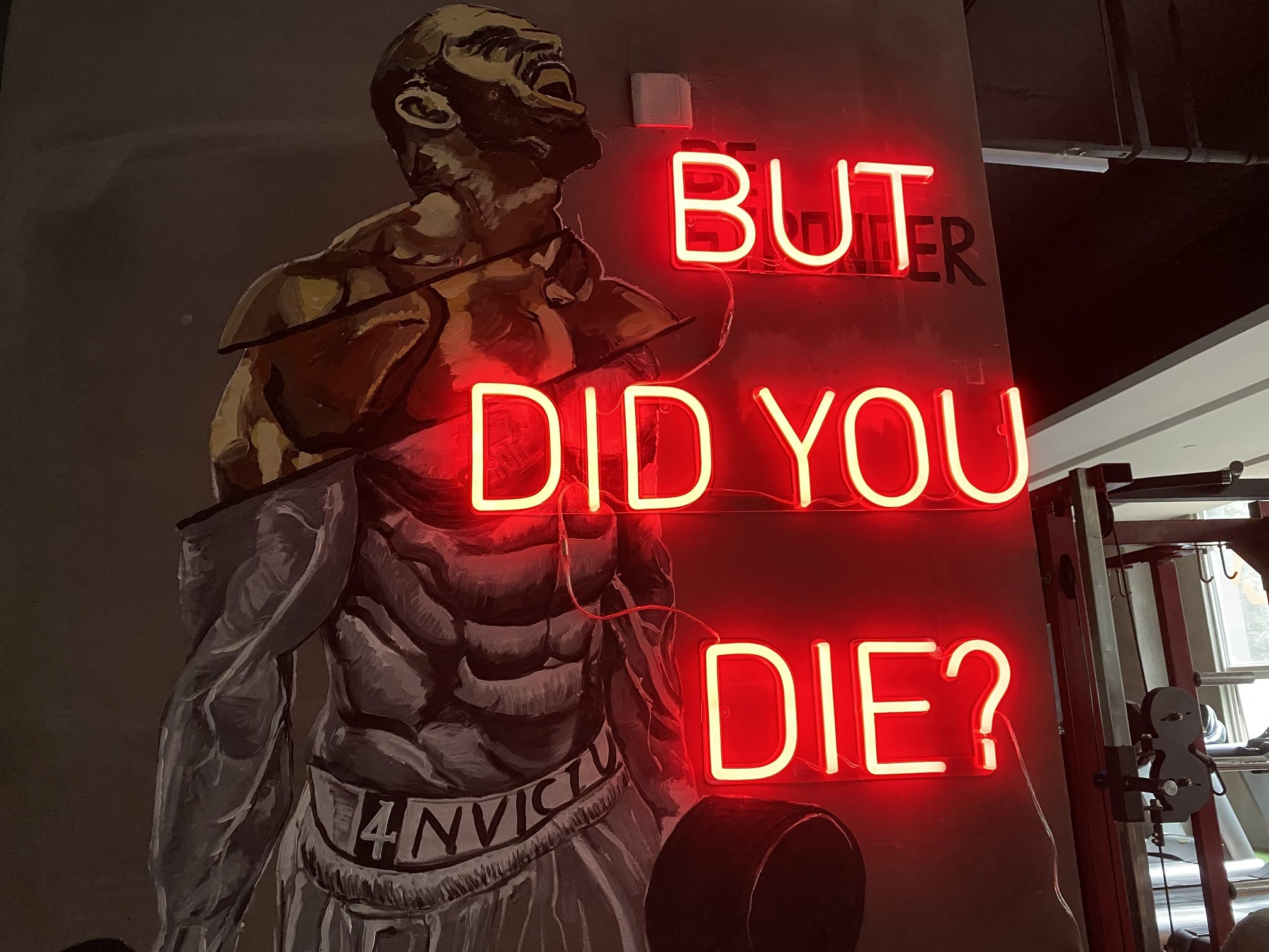 But did you die neon sign
