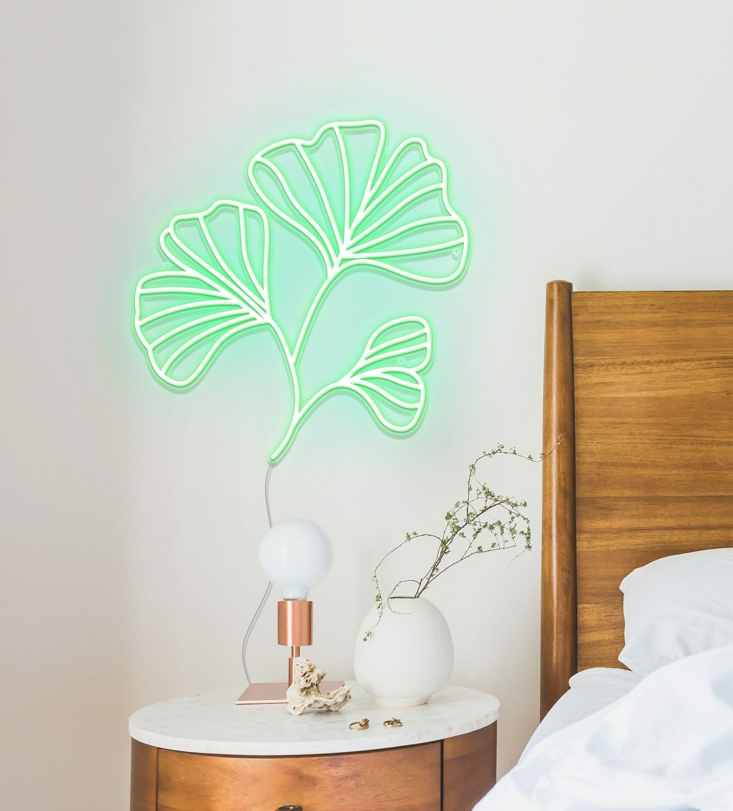 Ginkgo Leaves neon sign