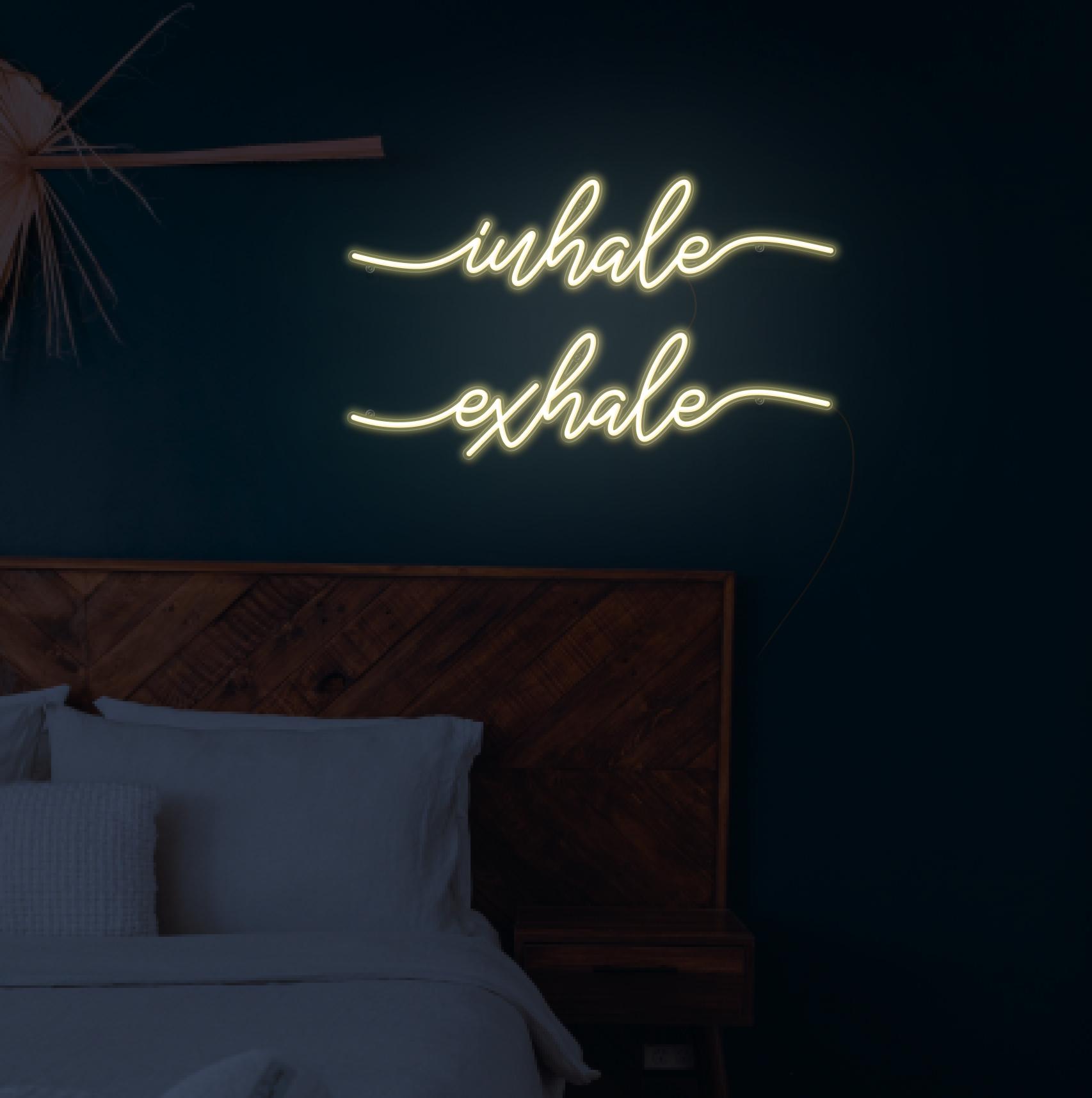 Inhale exhale neon light
