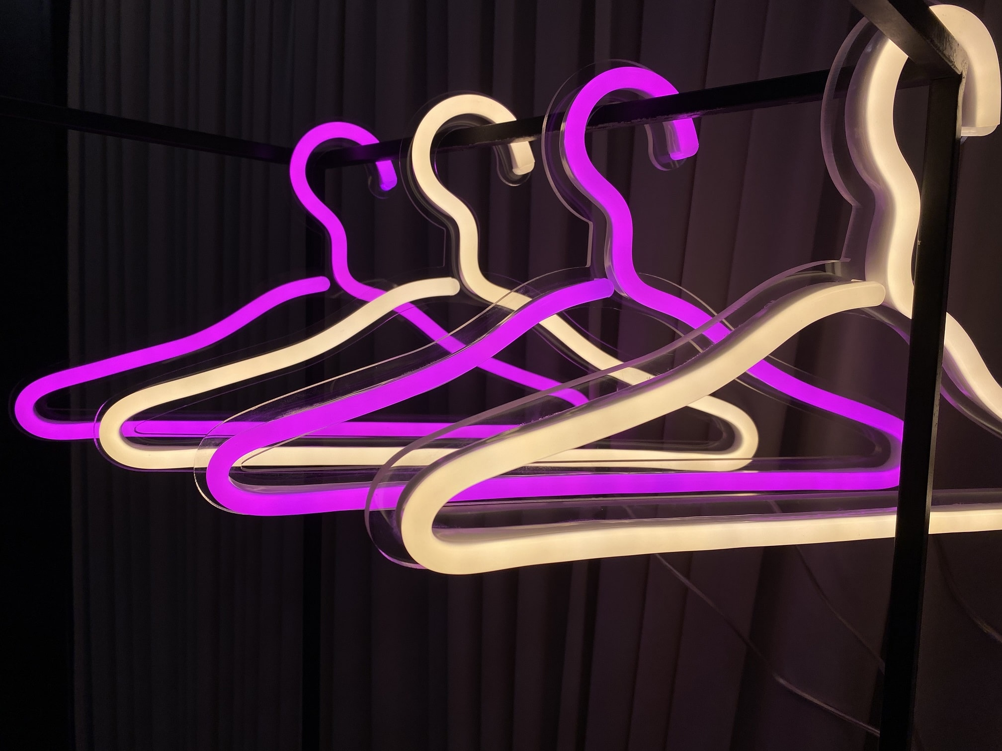 clothes hanger neon sign pack