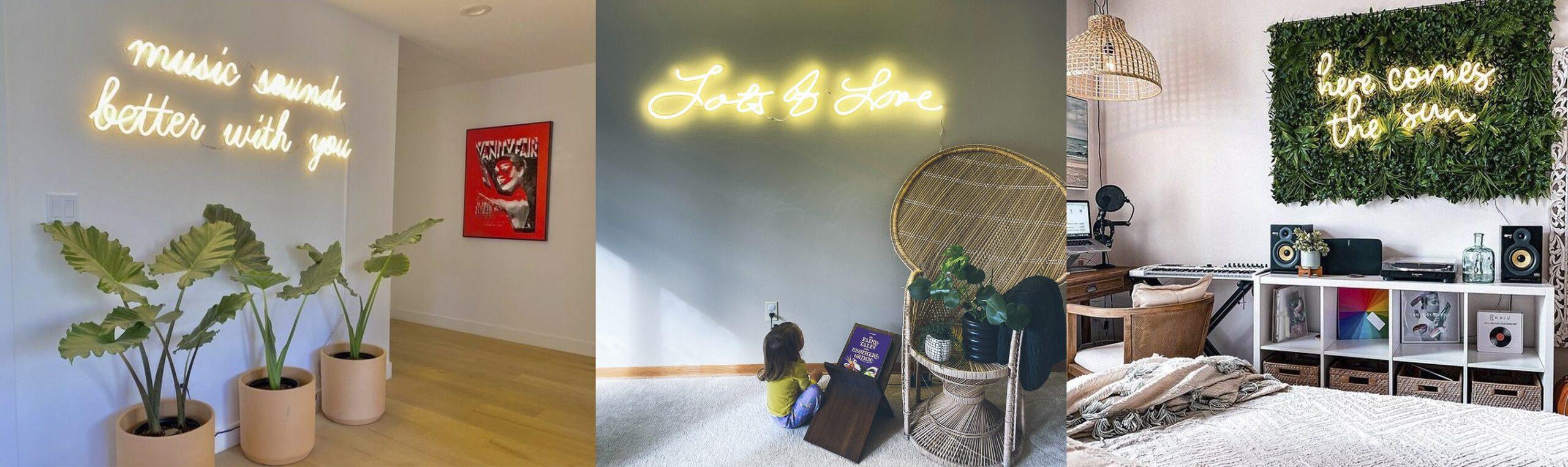 incorporate neon into home