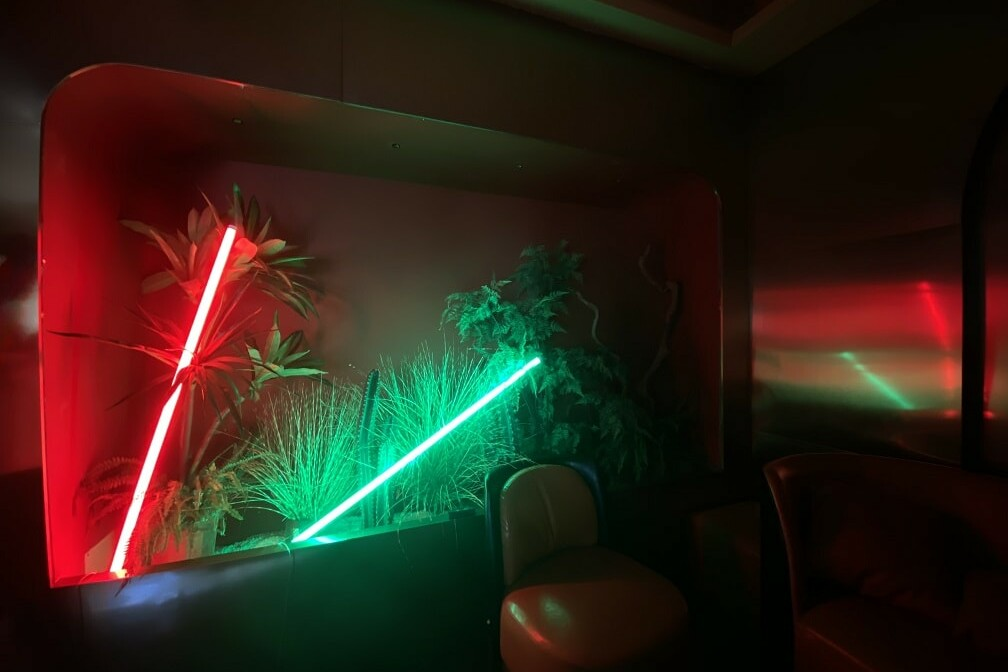 neon lamp red&green